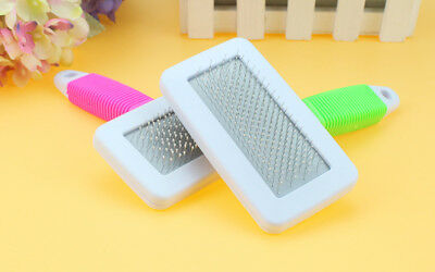 Handle Shedding Pet Dog Cat Hair Brush Pin Fur Grooming Trimmer Comb Tools New