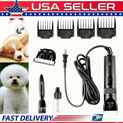 Professional Mute Set Pet Cat Dog Fur Hair Wired Clipper/Trimmer//Shaver Kit HM