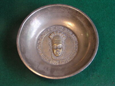 2nd World Black and African Festival of Arts and Culture Plated Brass Bowl