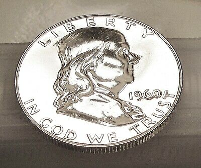 1960  Franklin  Proof   90%  Silver  > Blazing  Mirrored  Surfaces  <  #409  5