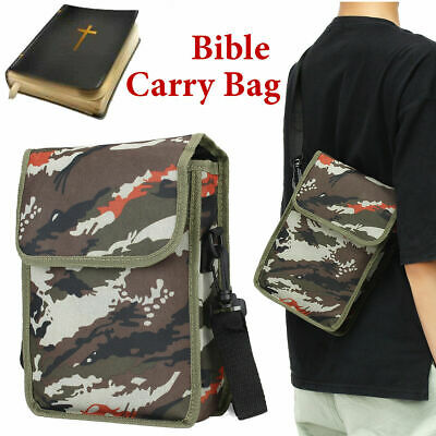 Bible Cover Zipper Protective Holy Book Tote Bag Religious Carrying Case