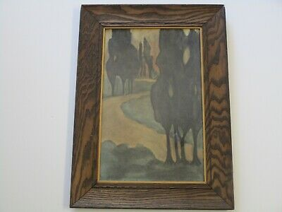 Antique Painting Art Deco Nouveau Arts And Crafts Era Impressionism Landscape