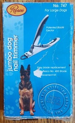Resco Pro Pet Jumbo Dog Nail Clipper Trimmer Stainless Steel