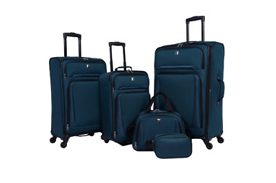 Skyline 5pc Spinner Luggage Set - Teal Suitcase Set New