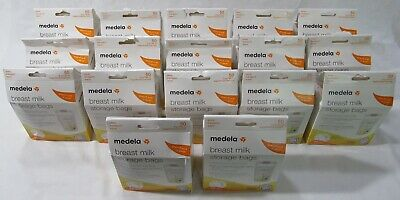 Medela Breastmilk Storage Bags 6 oz Bonus Transport Pouch 17 Boxes of 50 Each