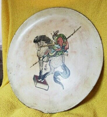 antique hand painted quing solder on tang horse J.Kogh 1880