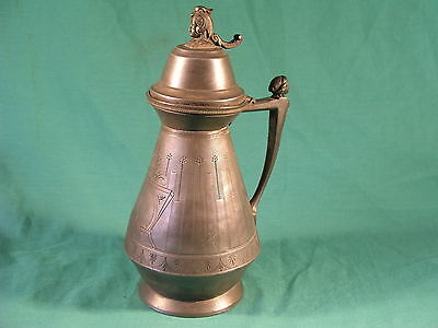 Antique Pewter Pitcher by J F Curran & Co New York Patented 1865 Empire Style