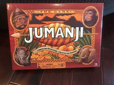 "Brand NEW Jumanji ""The Game"" Board Game - By Cardinal Xmas"