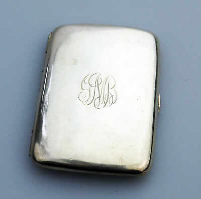 Antique Sterling Silver a pretty curved Cigarette Case C.19th/early 20thC