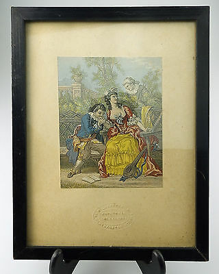 Antique Baxter Print signed an attractive Victorian Framed Print 2 C.19thC