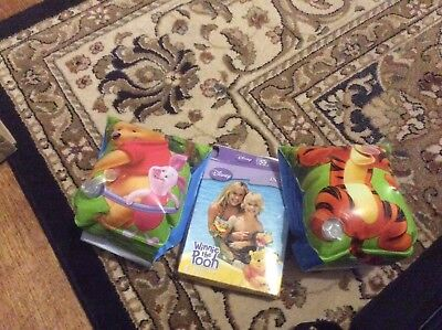 Winnie The Pooh Inflatable Swimming Armbands Cuffs Holiday Beach Garden Float