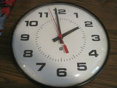 Vintage Simplex School / Business Wall Clock! Red Second Hand. 16 Inches