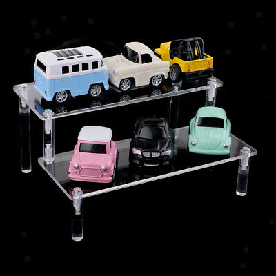 Acrylic Riser Cosmetic Shelf Removable Rack 2-Tier Display Stand for Figures