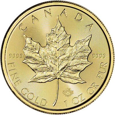 2019 Canada Gold Maple Leaf Incuse 1 oz $50 - BU