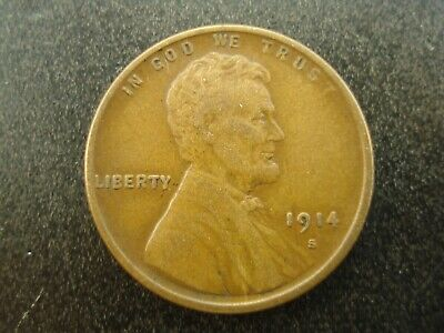 1914-S Lincoln Wheat Cent 1c Coin  **NO RESERVE**