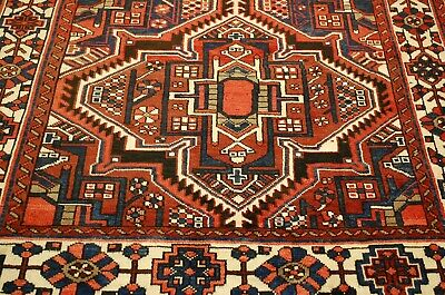 c1930 ANTIQUE PERSIAN HERIS SERAPI RUG 5x10.1 ROOM SIZE BEAUTY_NATURAL DYE