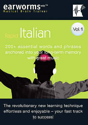 Earworms Rapid Italian Vol. 1: 200+ Essential Words and Phrases (CD) 1905443005