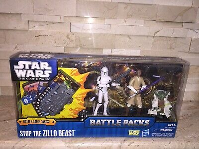 Star Wars The Clone Wars Stop The Zillo Beast Battle Packs