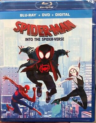 SPIDER MAN, Into The Spider-verse (Blu-ray+DVD+Digital) SEALED, Free Shipping