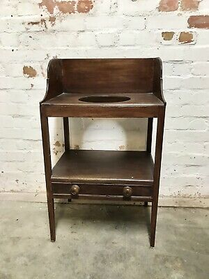 ANTIQUE GEORGIAN 18th 19th CENTURY FLAME MAHOGANY WASH STAND TABLE