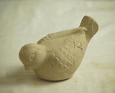 Terra Cotta Clay Garden Bird Figurine Home Shelf Decor