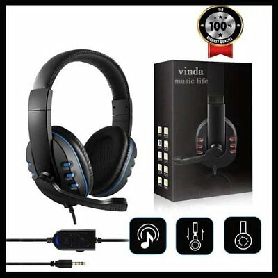 3.5mm Wired Gaming Headphones Game Headset Noise Canceling Earphone with Microph