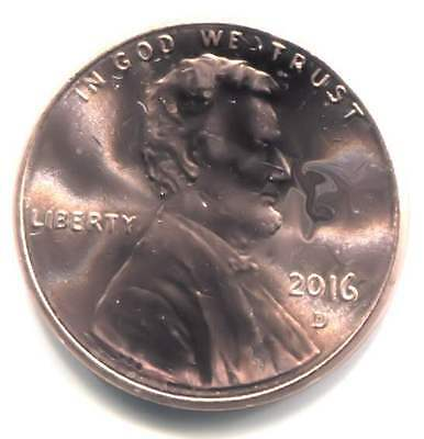 U.S. 2016 D Lincoln Shield Penny - Uncirculated One Cent Coin