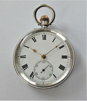 1911 Silver Cased Swiss Lever Pocket Watch In Working Order