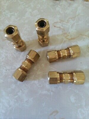 "Brass Fittings: DOT Air Brake Union Compression Fitting, Tube OD 1/2"", Qty. 10"