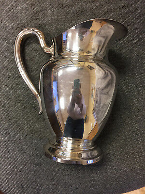 Antique WM A ROGERS ONEIDA Silverplate Pitcher Jug Silver Plate Server Vintage