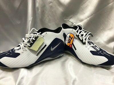 new style 605f2 c31fe  Nike Air Zoom Football Cleats Alpha Project White Navy 030406 LN2 Size 13.5