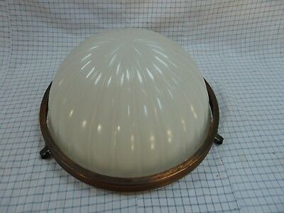 Antique Milk Glass Moonstone Ceiling Light Hanging Shade Jefferson Style