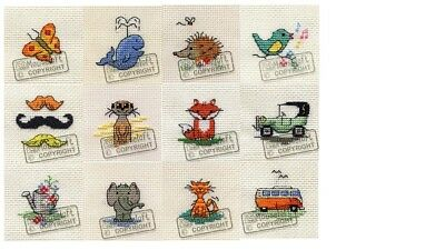 Mouseloft Mini Cross Stitch Kits  - Tiddler Collection #2 **BUY 3 - 13% OFF!!**