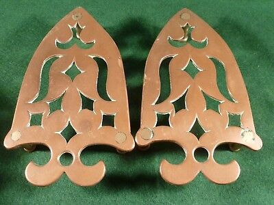 Pair of Georgian Antique Copper Trivets / Iron Stands
