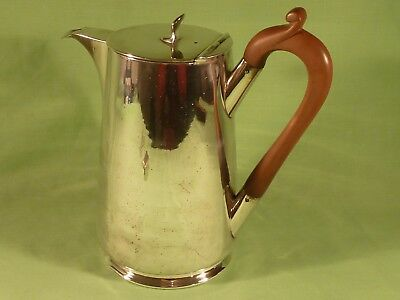 Antique Walker & Hall Silver Plated Hot Water Jug / Pot , Hinged Lid