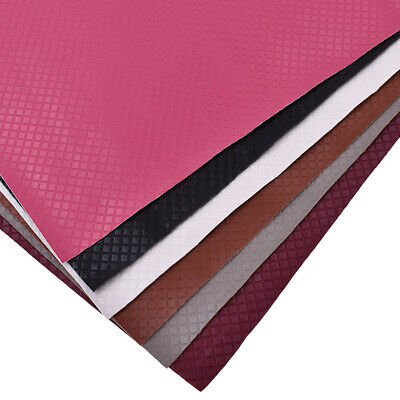42*30cm Checks Plaid Faux Leather Fabric Sewing Artificial Synthetic PU For DIY