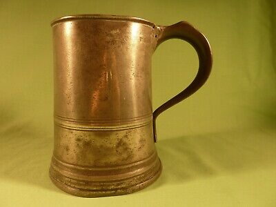 Antique Victorian James Yates  Quart Pewter Tankard with Early Repair Work