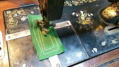 Antique German Winselmann Hand Crank Sewing Machine Working Order
