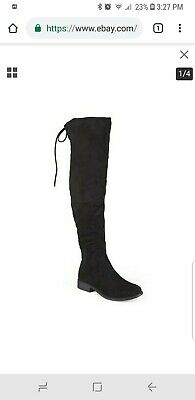 68a0e058d44 JOURNEE COLLECTION WOMEN S Over the Knee Wide Boots - Black - Size ...