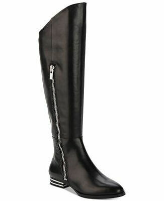 DKNY Womens Lolita Leather Closed Toe Over Knee Fashion Boots, Black, Size 8.0 b
