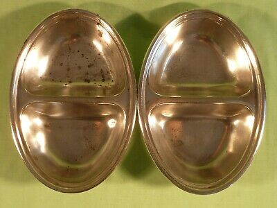 Pair Elkington Monarchy Plate Silver Plated Hotel Vegetable Food Serving Dishes