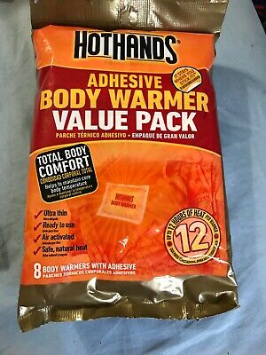 NEW  8 Count Value Pack HOT HANDS 12 Hours Adhesive Body Warmers