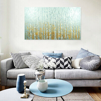 Hand Painted Abstract Oil Painting Modern Wall Art Home Decor Framed - Birch