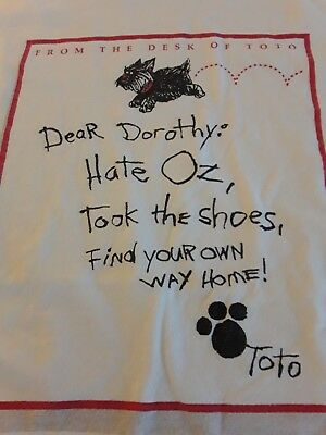 Wizard of oz tee.   dear Dorothy......sz M