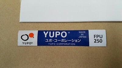 Yupo FPU 250 - 200 GSM (250 micron) Synthetic Paper 20 sheets A-4 210mmx297mm