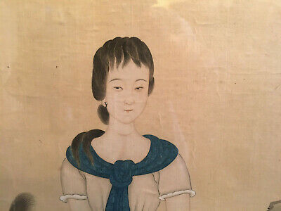 A Rare and Important Chinese Qing Dynasty Painting on Silk, Artist Signed.