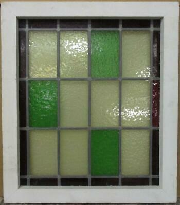 "MID SIZE OLD ENGLISH LEAD STAINED GLASS WINDOW Simple Colorblock 20.25"" x 23.5"""