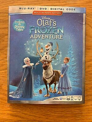 Disney's Olaf's Frozen Adventure Blu-Ray DVD Digital with Slipcover NEW SEALED