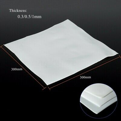 150mm 300mm PTFE Teflon Film Sheet Plate 0.3mm 0.5mm 1mm Thickness US