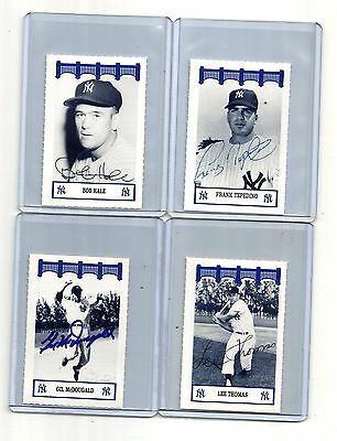 1991-1992 WIZ at&t NEW YORK-ny YANKEES OF THE 60'S auto-SIGNED lee THOMAS '92